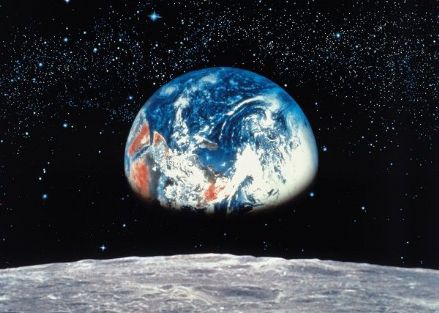 Earth view from Moon wall mural wallpaper